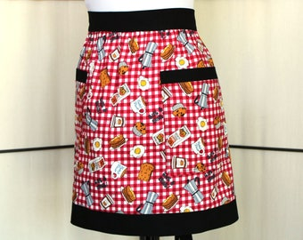 Rise & Shine Breakfast food theme apron - Betty's Diner apron with two pockets
