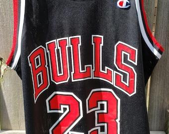 fae77079d46 ... Michael Jordan Chicago Bulls 23 Jersey by Champion Size 40 1990s ...