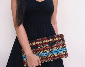 Best friend Birthday gift, Evening Clutch  bag, Boho Bag, Aztec Clutch Bag, Shoulder cross body bag, unique Teacher Gift  for women, PiYOYO