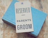 6 Kraft Reserved Seating Signs for Rustic Weddings (Custom)