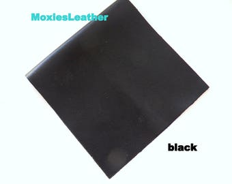 black leather pieces, leather for earrings , leather for jewlery , leather for crafts , black leather