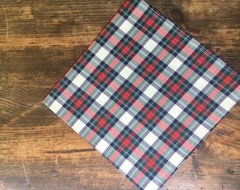 SALE Plaid Cotton Handkerchief