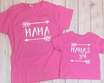 Mama and Mama's Girl Matching Shirts - Mom and Baby Girl Matching - Mother Daughter Matching Shirts - Mom and Baby - Mother Daughter Shirts
