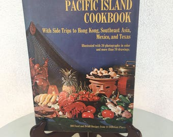 Vintage 1968 Trader Vic's Pacific Island Cookbook Hardcover photos drawings