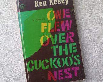 One Flew Over the Cuckoo's Nest Ken Kesey Vintage 1966 Edition Viking Press Paperback Beat Generation Novel Mental Hospital Modern Lit