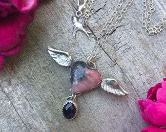 Winged Heart Necklace