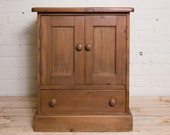 Vintage cupbard, pine cupboard, sold cupboard with drawers. a great bedside table, a lovely hall cupboard, childrens toys , country home