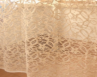 Cream Lace Fabric Sold by Half Metre MJ776