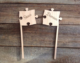 Custom Puzzle Piece Cake Toppers