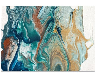 Abstract Wall Art 'Earth 2' by Jamie Anton - Urban Splatter Decor Contemporary Earth Tones Artwork on Metal or Plexiglass