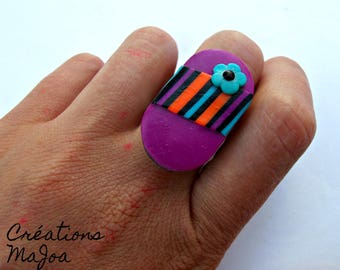 Bague Symbiose Ajustable*Stainless