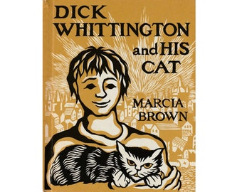 medieval England picture book Dick Whittington and His Cat by Marcia Brown, London, British folk tale, cat book, Britain, cat folk tale