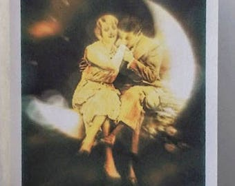 A Paper Moon Anniversary Greeting Card