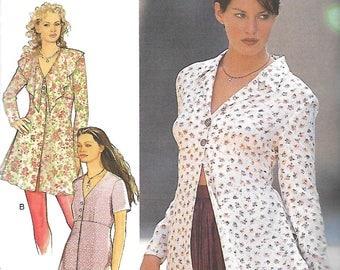 Style 2576 Misses Raised Waist Tunic Pattern, Size 8-18, UNCUT