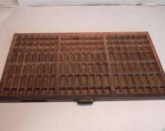 NOW ON SALE!!! Vintage Letterpress Printer's Drawer Type Case Shadow Box