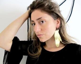 Prayer hand earrings
