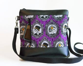halloween purse crossbody bag skeleton purse skeleton portraits purse halloween bag - Halloween Handbag