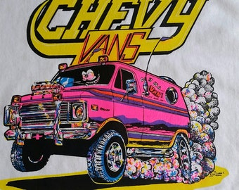 Vintage Chevy Van Tshirt by King George ll Studios