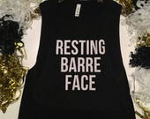 Resting Barre Face Tank - Pure Barre - Yoga - Workout