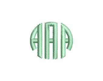 Small Circle Monogram Embroidery Font - INSTANT DOWNLOAD