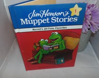 Vintage 1991 Jim Henson's Muppet Stories Kermit's All-Time Favorites hardcover Illustrated