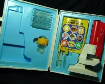 Vintage 1986 Fisher-Price Micro Explorer Set #3005 Complete Working
