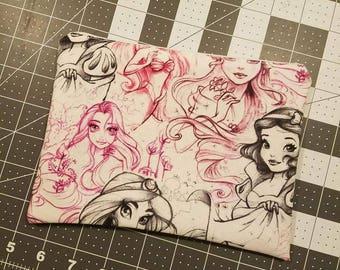 Disney Princess Zipper Bag **can be customized with name**