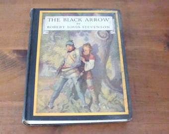 1933 The Black Arrow, Robert Louis Stevenson, Illustrated by N. C. Wyeth w/ 14 Color Plates