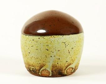 Kaki matte glaze potter's salt shaker