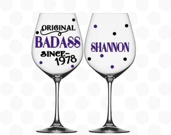 40th birthday gifts for women - 40th birthday - Original badass since 1978 - 40th birthday gift for her - 40th birthday funny