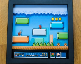 Mario Bros 3 - First Warp Whistle - NES Shadowbox
