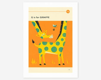 G is for GIRAFFE (Giclée Fine Art Print/Photo Print/Poster Print) by Jazzberry Blue