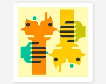 CLOSER 2 ME (Giclée Fine Art Print/Photo Print/Poster Print) Abstract, Minimal Wall Art