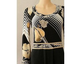 1970s LEONARD fashion silk jersey long dress medium