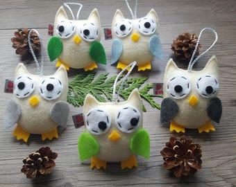 Owl Centerpiece, Cream Ornaments, Wedding Party Gift, Set of 5, Decorative Birds, Summer Fun, Her or Him Ideas, Garden Lover, Kid Room Decor