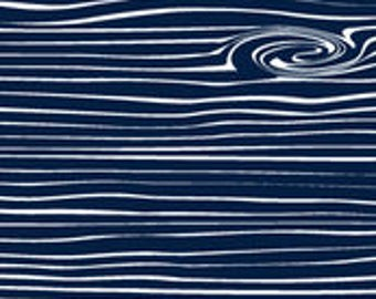 Woodgrain - Navy Changing Pad Cover
