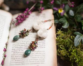 Hedgewitch - emerald garnet carnelian peridot amethyst citrine hemp