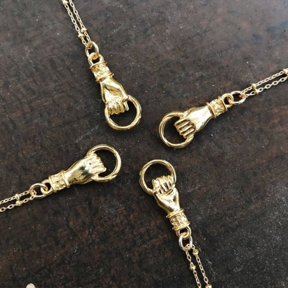 Gold Hand Necklace, Hand Jewelry, Boho jewelry