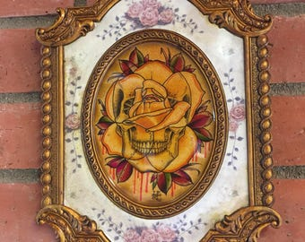 Yellow skull rose