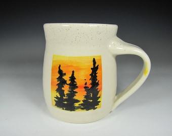 coffee mug pottery mug handmade pottery mug ceramic mugs tree mug