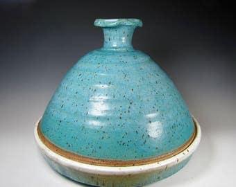 Tagine - Tajine - pottery - Ceramics - Turquoise - moroccan - Gold - casserole - baker