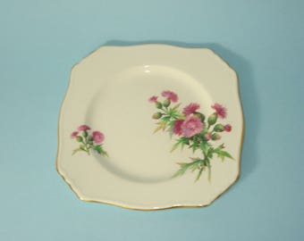 Vintage Side Salad Plate - 6056 Royal Winton Grimwades - Scotch Thistle - Purple Flower - Retro Servingware 1940s