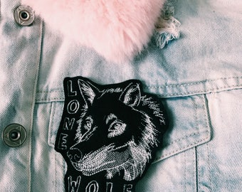 LONE WOLF Iron on embroidery patch
