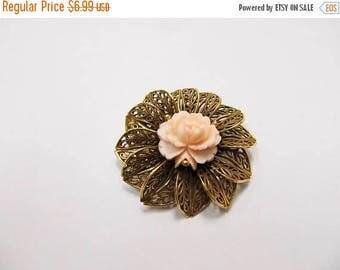 ON SALE Vintage Ornate Floral Pin Item K # 2815