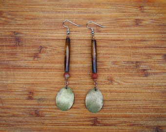 Wood Jasper Dangle Earring