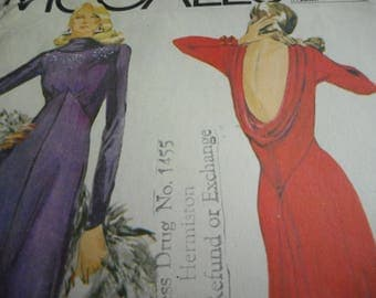 Vintage 1970's McCall's 6839 Bob Mackie Dress Sewing Pattern, Size 14, Bust 36