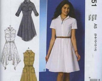 McCall's M7351 Dress Pattern Size A5 (6-8-10-12-14)