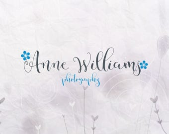 Premade logo flower watermark design photography BUY 2 and GET 1 FREE!!!