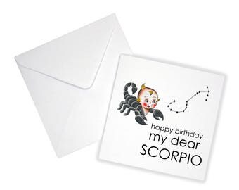 Happy Birthday Scorpio Greeting Card