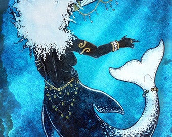 Ice Witch - Mermaid Art - Print - Free shipping